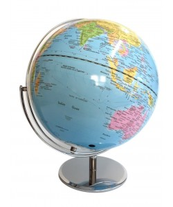 Heritage Light Blue Ocean Political 30cm World Globe  MS112A2BB-P