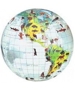Clear Animals 40cm Inflatable Globe