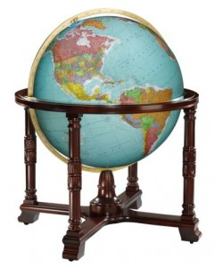 Diplomat Blue Ocean World Globe