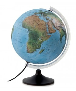 Solid R Relief World Globe