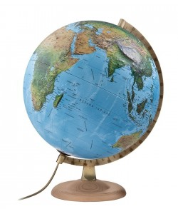 Classic R4 Relief Physical - Political World Globe