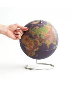 Cork Coloured World Globe