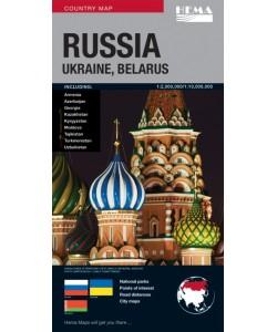 Russia, Ukraine, Belarus Map