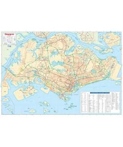 Singapore Wall Map