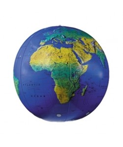Physical 30cm Inflatable Globe