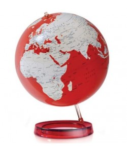 Colour Red World Globe