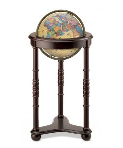 Lancaster Antique Illuminated World Globe