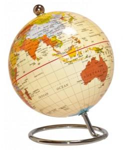 Desktop World Globe - Antique 10cm