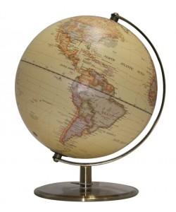 Heritage Embossed Antique 20cm World Globe MS-108S3B-P