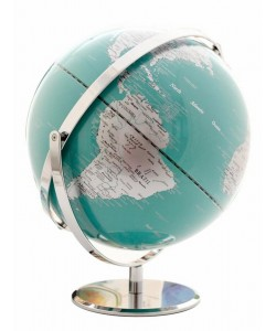 Heritage Teal Ocean 30cm World Globe MS-112G23BB-P