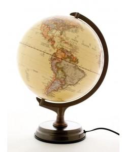 Heritage Illuminated Antique 30cm World Globe MS-300 LED