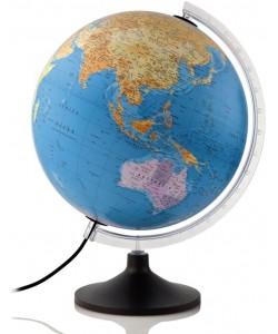 Solid P Political World Globe