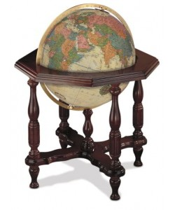 Statesman Antique World Globe