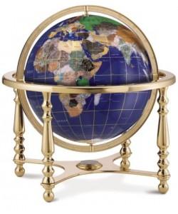 Compass Jewel Gemstone World Globe